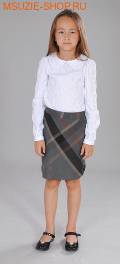 Милашка Сьюзи блузка для полных. 122/64  белый (2 полнота) рост