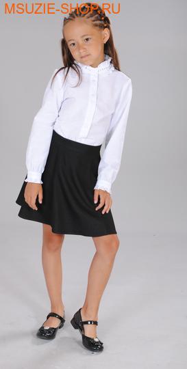 Милашка Сьюзи блузка. 128 белый ростБлузки<br><br>