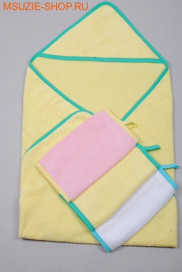 Милашка Сьюзи уголок+полотенце 3 шт. уголок+3 полотенца желтый рост