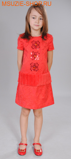 Флер де Ви платье. 122 красный ростосень-зима<br><br>