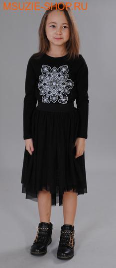 Флер де Ви блузка. 116 черный ростосень-зима<br><br>