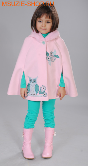 Флер де Ви пальто (пончо). 104 розовый ростосень-зима<br><br>