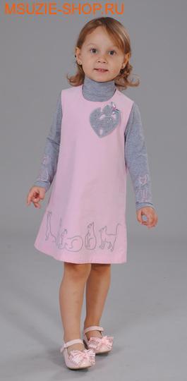 Флер де Ви блузка+сарафан. 110 розовый ростосень-зима<br><br>