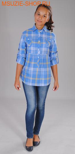 Милашка Сьюзи блузка. 128 голубой ростДжемпера, рубашки, кофты<br><br>