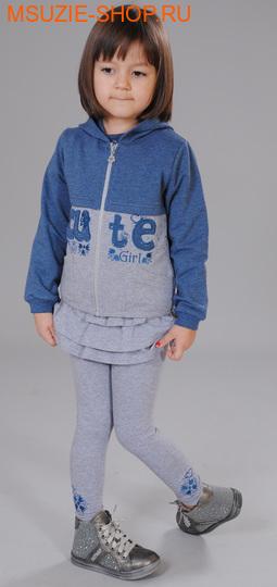 Флер де Ви куртка+юбка-лосины+блузка. 104 индиго ростосень-зима<br><br>