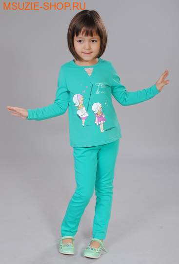 Флер де Ви блузка. 104 зеленый ростосень-зима<br><br>