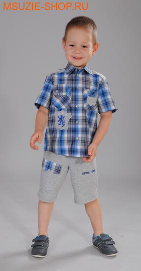 Милашка Сьюзи сорочка+шорты. 104 серый ростКостюмы <br><br>