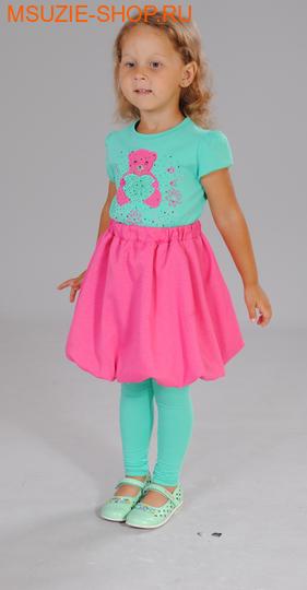 Милашка Сьюзи блузка+юбка+лосины. 104 св.зеленый ростКомплекты<br><br>