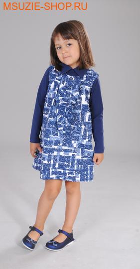 Милашка Сьюзи сарафан+блузка. 104 синий ростПлатья <br><br>