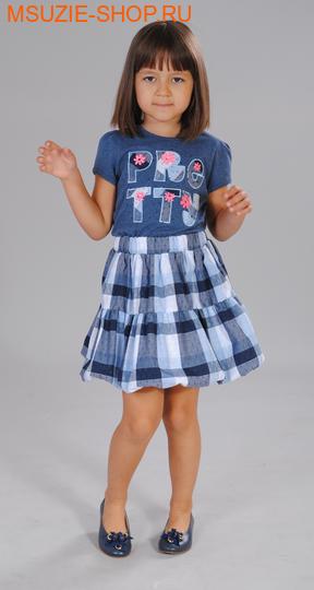 Милашка Сьюзи блузка+юбка. 104 индиго ростКомплекты<br><br>