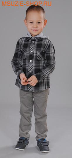 Флер де Ви сорочка. 98 серый (клетка) ростосень-зима<br><br>