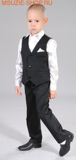 Милашка Сьюзи жилет+брюки+сорочка. 104 черный ростНарядная одежда<br><br>
