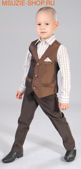 Милашка Сьюзи жилет+брюки+сорочка. 104 корич ростНарядная одежда<br><br>