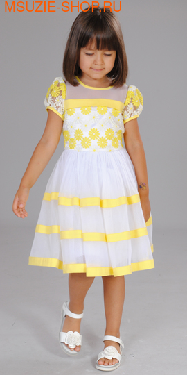 Милашка Сьюзи платье. 104 желтый ростНарядные платья <br><br>