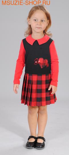 Милашка Сьюзи платье. 104 красный ростПлатья <br><br>
