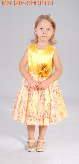 Милашка Сьюзи платье. 104 ярк.желтый ростНарядные платья <br><br>