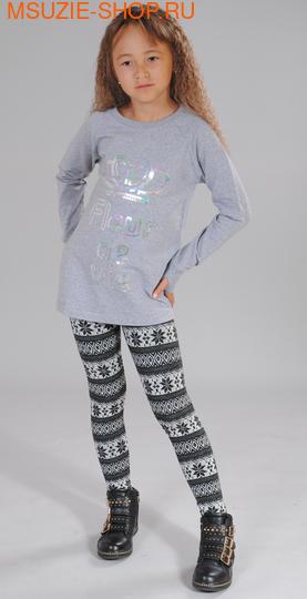 Милашка Сьюзи лосины. 104 тем.серый (рисунок) ростБрюки, юбки  <br><br>