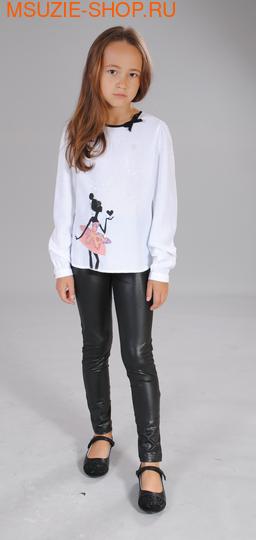 Флер де Ви блузка. 116 белый ростДжемпера, рубашки, кофты<br><br>
