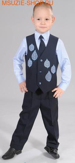 Милашка Сьюзи жилет+брюки+сорочка+галстук. 104 т.синий ростНарядная одежда<br><br>