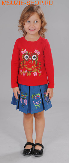Милашка Сьюзи блузка+юбка. 104 красный ростКомплекты<br><br>