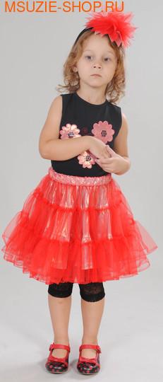 Милашка Сьюзи блузка+юбка+лосины+ободок. 104 персик ростнарядная одежда<br><br>