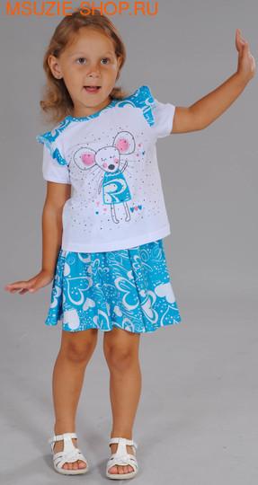 Милашка Сьюзи блузка+юбка. 104 белый ростКомплекты<br><br>