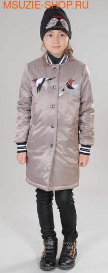 Милашка Сьюзи пальто+шапка. 128 тем.бежевый ростВесна-осень<br><br>