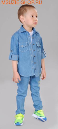 Милашка Сьюзи сорочка. 104 голубой ростДжемпера, рубашки, кофты<br><br>