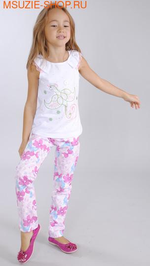 Милашка Сьюзи брюки. 104 белый ростБрюки, юбки  <br><br>
