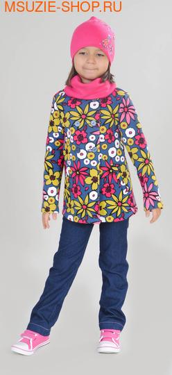 Милашка Сьюзи пальто+шапка+снуд. 104 индиго ростВесна-лето<br><br>