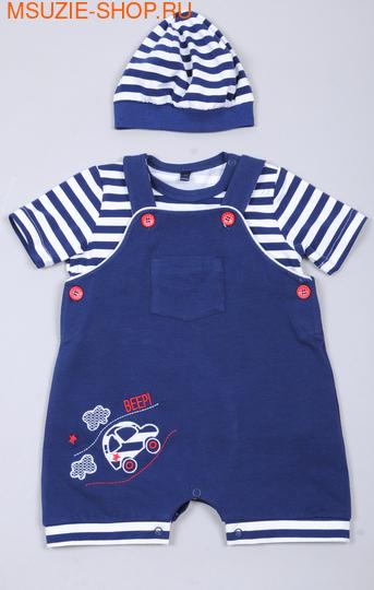Флер де Ви комбинезон+футболка+шапочка. 74 синий ростКостюмы <br><br>
