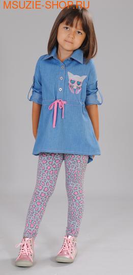 Флер де Ви туника. 104 голубой ростДжемпера, рубашки, кофты<br><br>