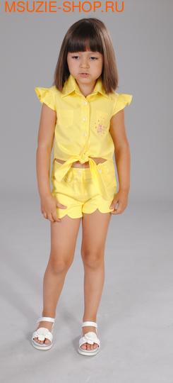 Флер де Ви блузка+шорты. 110 желтый ростКомплекты<br><br>