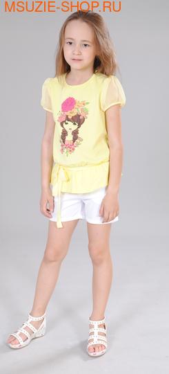 Флер де Ви блузка. 104 желтый ростДжемпера, рубашки, кофты<br><br>