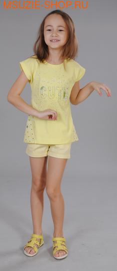 Флер де Ви блузка. 110 желтый ростДжемпера, рубашки, кофты<br><br>