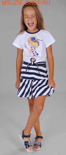 Флер де Ви футболка. 122 белый ростДжемпера, рубашки, кофты<br><br>