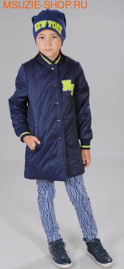 Флер де Ви пальто+шапка. 122 синий ростВесна-осень<br><br>