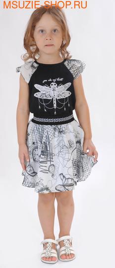 Милашка Сьюзи блузка+юбка. 104 черный ростКомплекты<br><br>