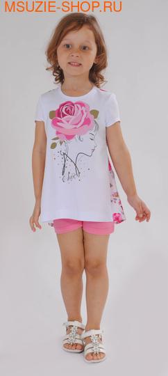 Милашка Сьюзи туника. 104 белый ростДжемпера, рубашки, кофты<br><br>