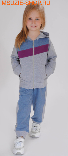 Милашка Сьюзи куртка+брюки. 104 серый ростСпортивная форма<br><br>