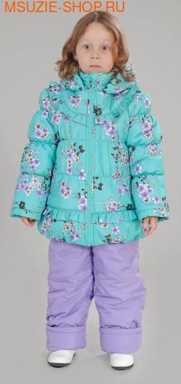 Милашка Сьюзи зимняя куртка+полукомбинезон. 104 св.зеленый рост