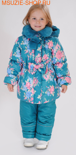 Милашка Сьюзи зимняя куртка+полукомбинезон. 104 мор.волна ростЗима<br><br>