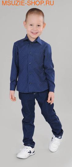 Милашка Сьюзи сорочка. 104 синий ростШкольная форма<br><br>