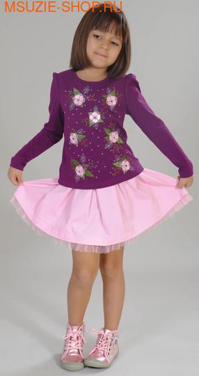 Флер де Ви блузка+юбка. 110 фиолетовый ростКомплекты<br><br>