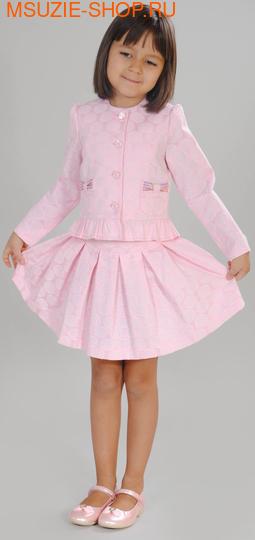Флер де Ви жакет+юбка. 104 розовый ростНарядные костюмы  <br><br>