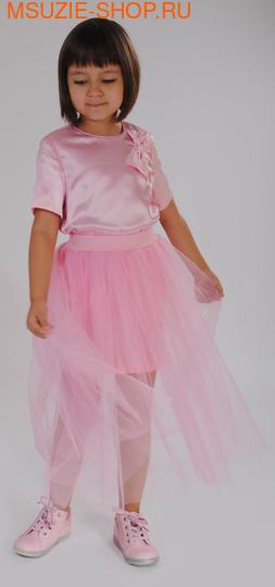 Флер де Ви блузка. 122 розовый ростТопы, маечки, болеро<br><br>