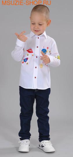 Флер де Ви сорочка. 104 белый ростДжемпера, рубашки, кофты<br><br>