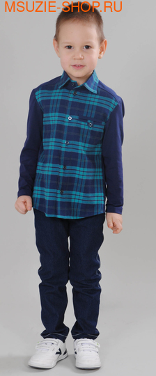 Флер де Ви сорочка. 104 синий ростДжемпера, рубашки, кофты<br><br>