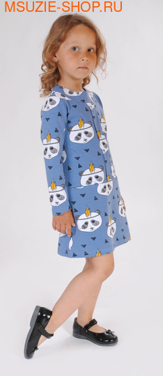 Милашка Сьюзи платье. 104 серо-голубой ростПлатья <br><br>