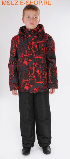Милашка Сьюзи куртка+п/комбинезон (ЗИМА). 128 красный рост